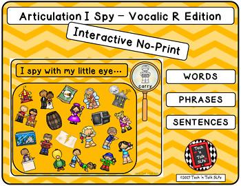 Articulation I Spy-Vocalic R Edition (NO PRINT INTERACTIVE)