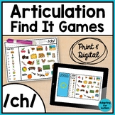 Articulation Activity: /ch/ Find It Speech Therapy Games