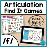 Articulation Activity: /f/ Find It Speech Therapy Games
