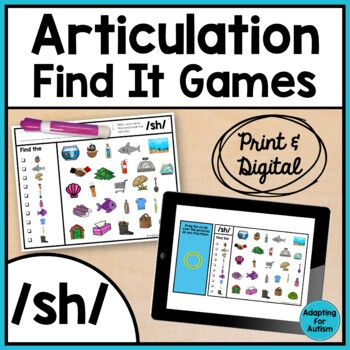 Articulation Activity: /sh/ Find It Speech Therapy Game
