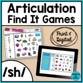 Articulation Activity: /sh/ Find It Speech Therapy Games