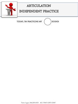 Articulation Independent Practice Tasks - FREEBIE