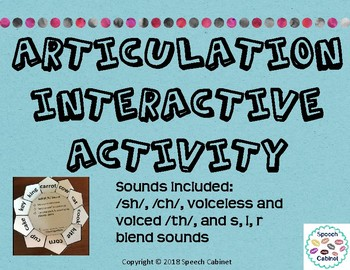 Articulation Homework Activity Set 2