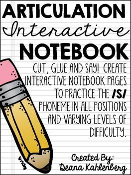 Articulation Interactive Notebook {/S/}