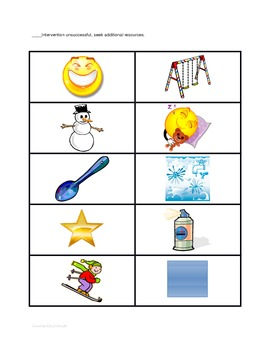 Articulation Intervention & Data Collection RTI & Speech Therapy S-BLENDS Sound