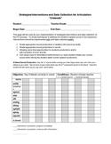 Articulation Intervention & Data Collection RTI & Speech T