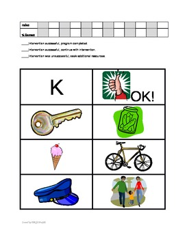Articulation Interventions & Data Collection for RTI & Speech Therapy - K Sound