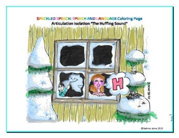 Articulation Isolation - /H/ - Huffing Sound Coloring Page - Phonology