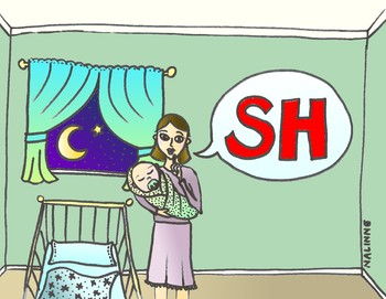 Articulation Isolation - /SH/ - Baby is Sleeping Sound - POSTER - Phonology