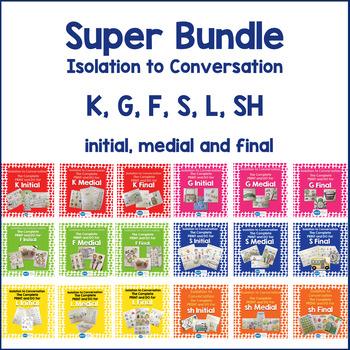 Articulation Isolation to Conversation - MEGA Bundle - K,G, F, L, SH, S