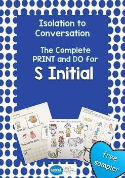 Articulation - Isolation to Conversation - S Initial - Free Sample