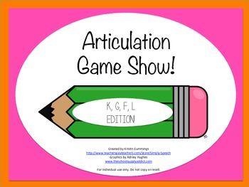 Articulation Game Show: K, G, F, L Edition