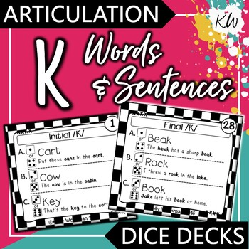 Articulation - K - Words and Sentences - Interactive Task Cards