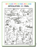 Articulation - K Final Sound - Coloring Sheet - Phonology