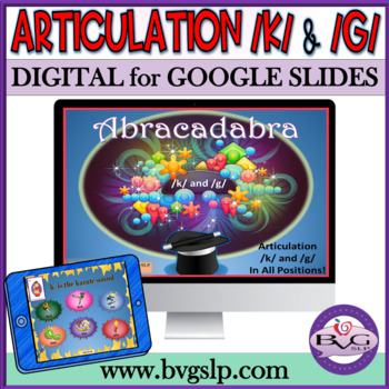 Articulation K and G in All Positions Abracadabra Teletpractice NO PRINT NO PREP