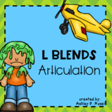 Articulation: L Blends for Speech Therapy
