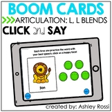 Articulation L, L blends | BOOM Cards™️ Speech Therapy Distance Learning