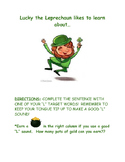 """Articulation """"L"""" Practice with Lucky the Leprechaun"""