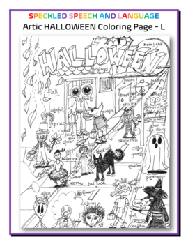 Articulation - L all positions - HALLOWEEN SPECIAL - Coloring Page