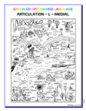 Articulation - L medial sound - Coloring Sheet - Phonology