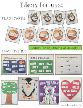 Articulation Labels SH Initial Position - for use with craftivities & flashcards