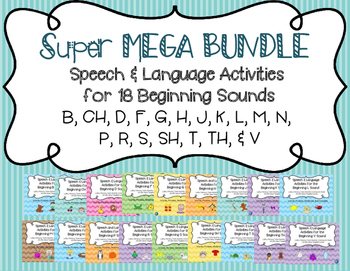 Articulation & Language Activities - Super Mega Bundle