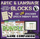Articulation & Language Blocks BUNDLE for Speech Therapy (game companion)