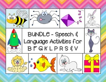 Articulation & Language Bundle # 1  for B, F, G, K, L, P, R, S, & V