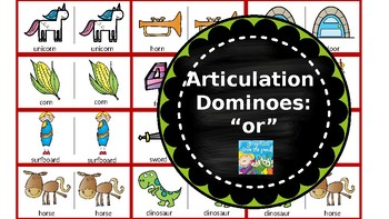 Articulation & Language Dominoes: Vocalic /or/