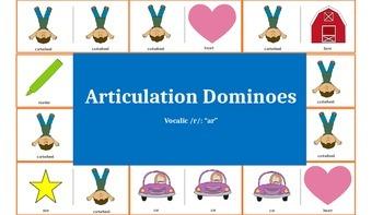 "Articulation & Language Dominoes: Vocalic /r/- ""ar"""