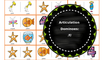 Articulation & Language Dominoes: /f/
