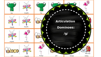 Articulation & Language Dominoes: /g/ Picture Stimuli