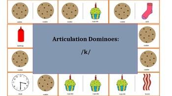 Articulation & Language Dominoes: /k/ Picture Stimuli