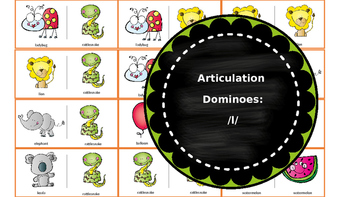 Articulation & Language Dominoes: /l/