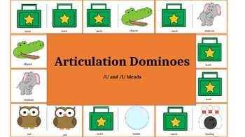 Articulation & Language Dominoes: /l/ and /l/ blend Pictur