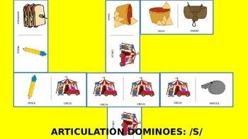 Articulation & Language Dominoes: /s/ Picture Stimuli