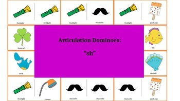 "Articulation & Language Dominoes: ""sh"" Picture Stimuli"