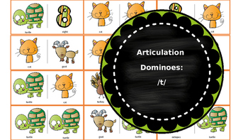 Articulation & Language Dominoes: /t/ Picture Stimuli