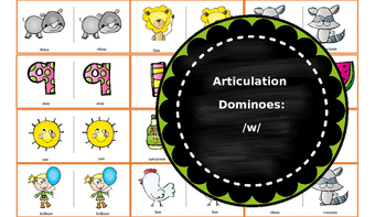 Articulation & Language Dominoes: /w/