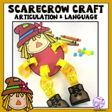 Articulation & Language  Fall Scarecrow Craft for Speech Language Therapy