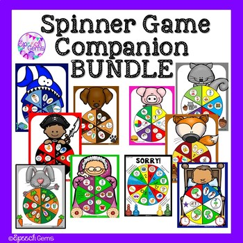 Articulation & Language Game Companion BUNDLE for Speech Language Therapy