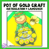 St Patrick's Day Articulation & Language Leprechaun Pot of Gold Craft