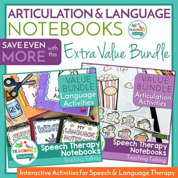 Articulation & Language - SLP Notebooks Value Bundles