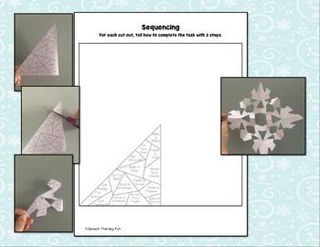 No Prep Articulation & Language Snowflakes Bundle