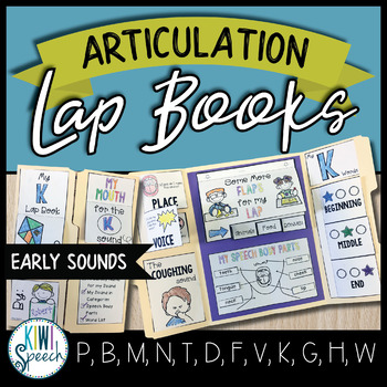 Articulation Lap Books - Early Sounds