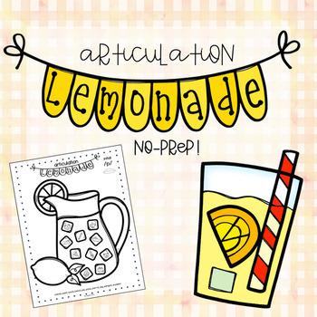 Articulation Lemonade | Low Ink & Low Prep/No Prep!