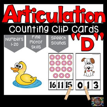 Articulation D Speech Sounds Counting Clip Cards