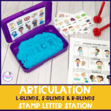 Articulation Letter Stamp Station for L-blends, S-blends,
