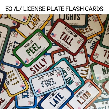 Articulation License Plate Flash Cards for /L/