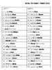 Articulation Lists: /sh/ and /ch/ Words in Phrases and Sentences